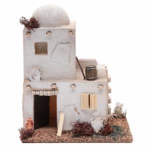 Maisons, milieux, ateliers, puits: Maison style arabe deux étages en polystyrène 20x15x20 cm