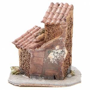 Maisonnette résine bois pour crèche 15x12x15 cm s4