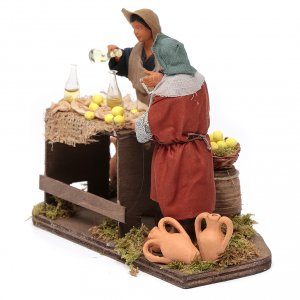 Man selling lemons with stall, Neapolitan nativity figurine 12cm s2