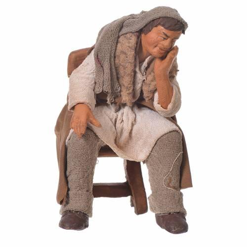 Man thinking, Neapolitan Nativity 12cm s1