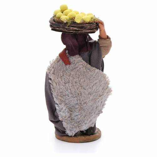 Man with lemon baskets, Neapolitan nativity figurine 10cm s3