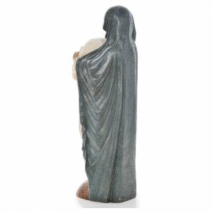 Maria veste blu e Giovanni Paolo II pietra Bethléem 56 cm s3