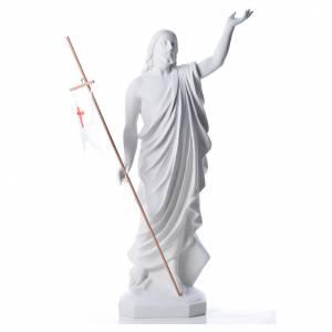 Kunstmarmor Statuen: Marmorguss Auferstandener Christus  100 cm