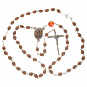 Mary Untier of Knots rosary, natural wood s4