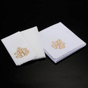 Altar linens: Mass linens 4 pcs. IHS in gold thread