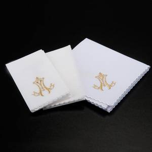 Mass linens 4 pcs. Marian symbol and lilies s2