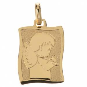 Medaglia angelo in preghiera oro 750/00 - gr. 1,63 s1