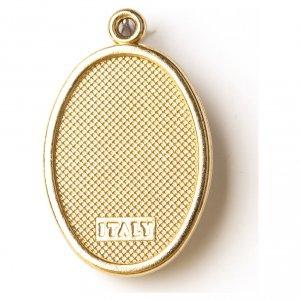 Medaglia Dorata con immagine Resinata Nostra Signora del Carmine s2