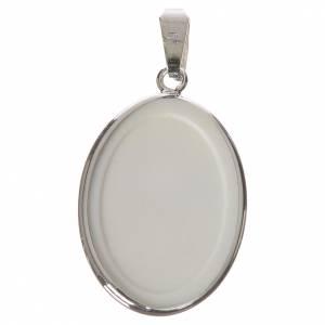 Medaglia ovale arg. 27 mm Angelo Custode s2