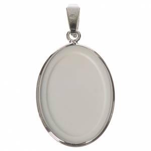 Medaglia ovale arg. 27 mm Medjugorie s2