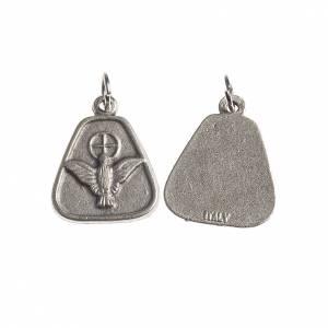 Medaglie: Medaglia Spirito Santo 18 mm galvanica argento antico