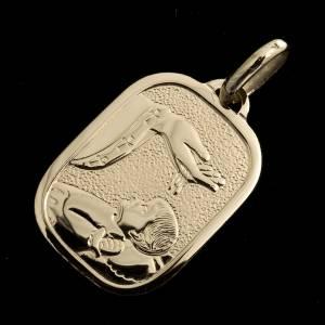 Pendenti, croci, spille, catenelle: Medaglietta oro 750 Battesimo - gr. 2,42