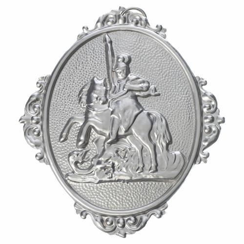 Medaglione confraternita San Giorgio ottone s1