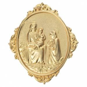 Medaglioni per confraternite: Medaglione confraternite Madonna con bambino ottone