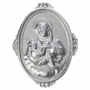 Medaglione per confraternite Madonna delle Grazie con bimbo s1