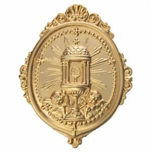 Medaglioni per confraternite: Medaglione per confraternite Ostensorio Ambrosiano metallo