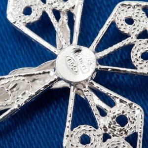 Anhänger, Kreuze, Broschen: Medaille Kreuz Silber 800