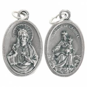 Medaillen: Medaille Madonna von Karmel oval oxidiertes Metall 20 mm