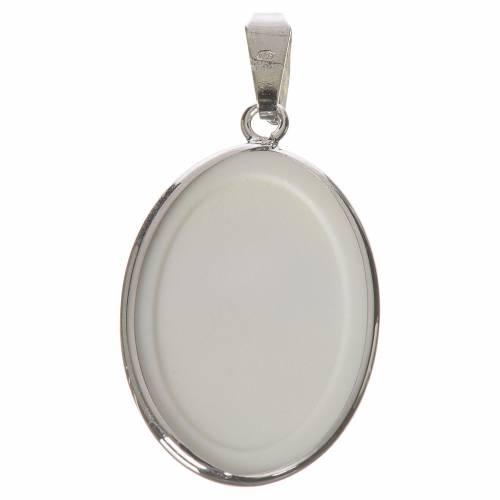 Médaille ovale argent 27mm Ange Gardien s2