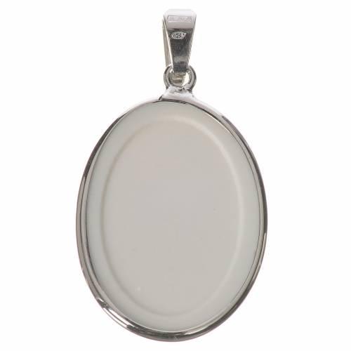 Médaille ovale argent 27mm Jean-Paul II s2