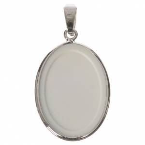 Médaille ovale argent 27mm Medjugorje s2