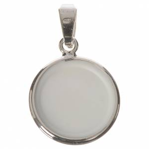 Médaille ronde argent 18mm Père Léopold s2