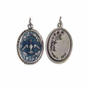 Médaille Saint esprit émail bleu ciel s1