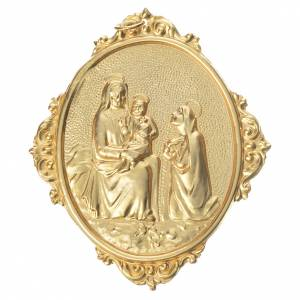 Medaliony dla konfraterni: Medalion konfraterni Madonna z Dzieciątkiem mosiądz