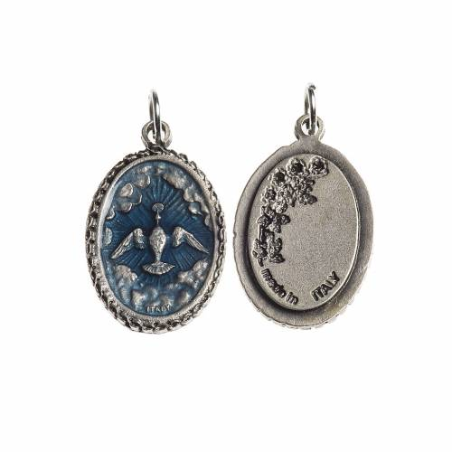 Medalla oval Espíritu Santo borde decorado galváni s1