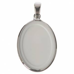 Medalla ovalada de plata, 27mm Jesús Misericordioso s2