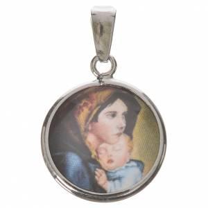 Medalla redonda de plata, 18mm Nuestra Señora Ferruzzi s1