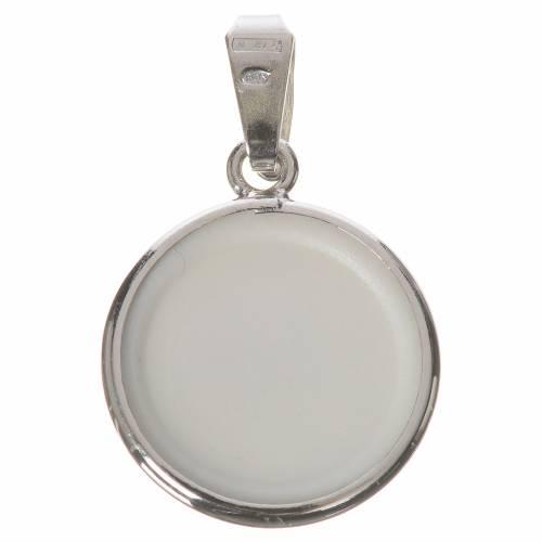 Medalla redonda de plata, 18mm San Francisco s2