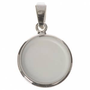 Medalla redonda de plata, 18mm San Leopoldo Mandic s2