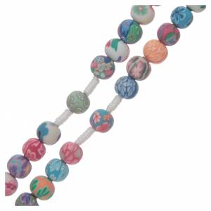 Rosaries and rosary holders: Medjugorje rosary in fimo, multicoloured