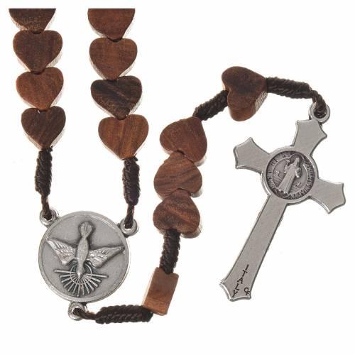 Medjugorje rosary in olive wood, Holy Spirit s2