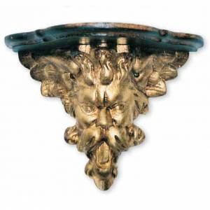 Mensola barocca legno per statue 30X20X27 cm s1