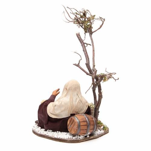 Mercante con sacco di semi e albero 24 cm presepe Napoli s3