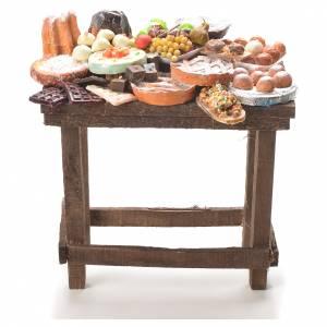 Comida en miniatura: Mesa con dulces pesebre 20.5x20x13 cm