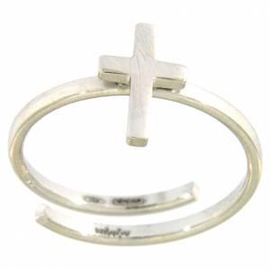 Gebetsringe: Midiring AMEN Kreuz Silber 925 rodiniert