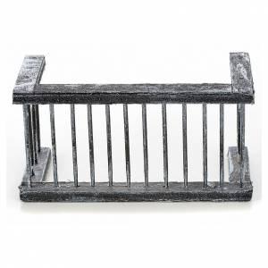 Mini balustrade balcon crèche Napolitaine 11,5x5x6 cm s1