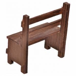 Mini banc en bois crèche Napolitaine 5x5,5x3 cm s2