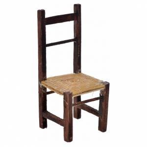 Mini chaise empaillée crèche Naples 8,5x3,5x3,5 cm s1