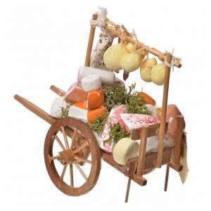 Mini charrette bois et fromages en terre cuite s3