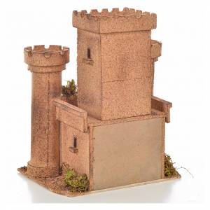 Mini château crèche Napolitaine 18x14x21 cm s4