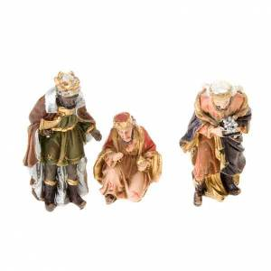 Resin and Fabric nativity scene sets: Mini nativity scene hand-painted resin 5 cm