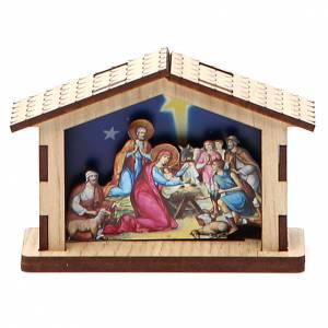 Nativity sets: Mini Nativity Scene Holy Family made of wood