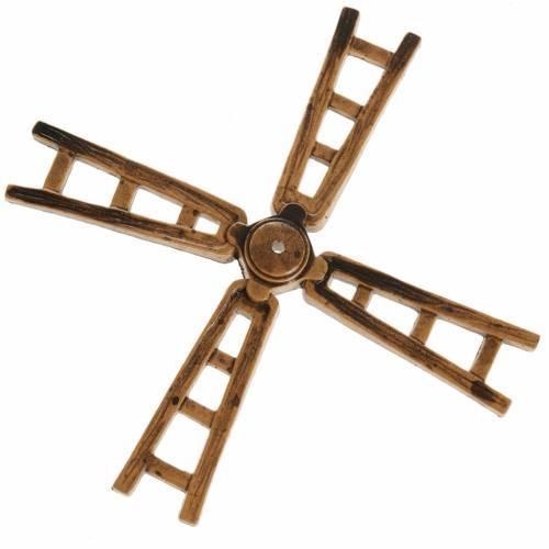 Mini pale moulin à vent 14 cm crèche s1