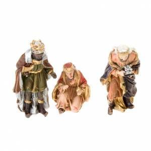 Presepe Resina e Stoffa: Mini Presepe in resina dipinto a mano 5 cm