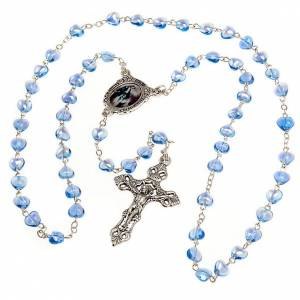 Miraculous Medal blue glass rosary s2