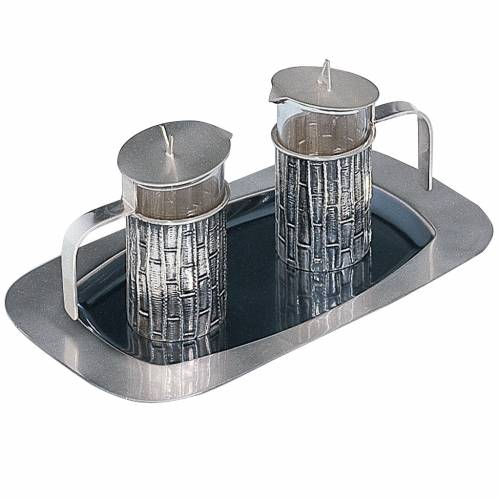 Molina cruet set, in silver brass s1